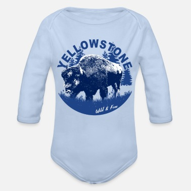 Yellowstone Bison Yellowstone Bison Wild Free - Organic Long-Sleeved Baby Bodysuit