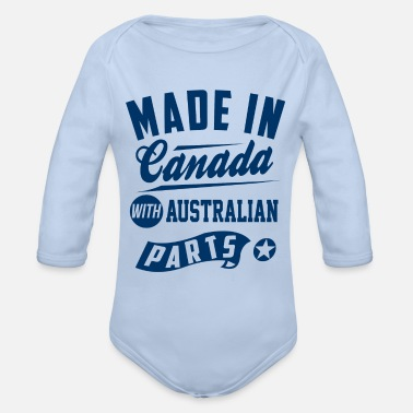 Canada Canadian Australian - Organic Long-Sleeved Baby Bodysuit