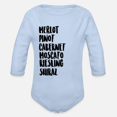 Wine Wine On Wine - Organic Long-Sleeved Baby Bodysuit