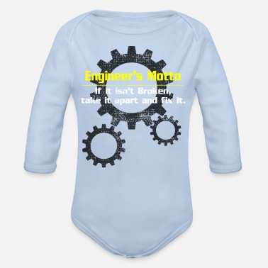Motto Engineer motto - Organic Long-Sleeved Baby Bodysuit