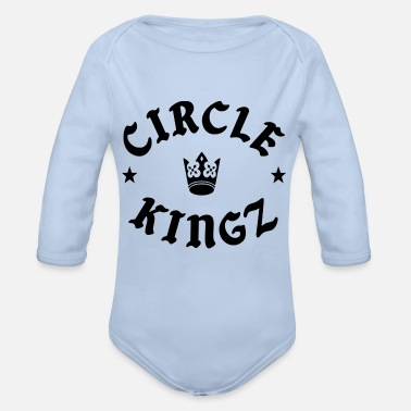 circle kingz - Organic Long-Sleeved Baby Bodysuit
