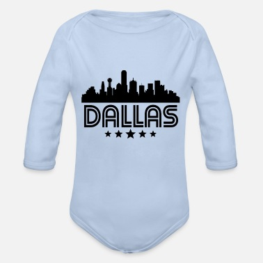 Dallas Retro Dallas Skyline - Organic Long-Sleeved Baby Bodysuit
