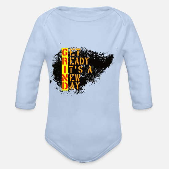 Grind Baby Clothing - GRIND - Organic Long-Sleeved Baby Bodysuit sky