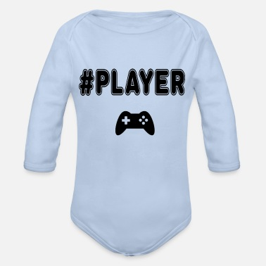 Player Number player - Organic Long-Sleeved Baby Bodysuit