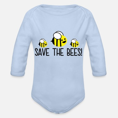 Save Save The Bees - Organic Long-Sleeved Baby Bodysuit