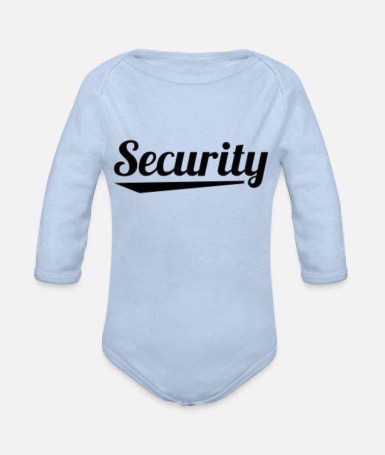 Helper Baby One Pieces - security_na1 - Organic Long-Sleeved Baby Bodysuit sky