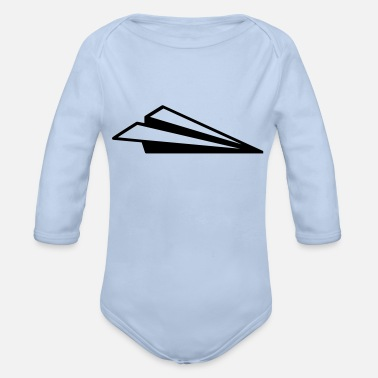 Paper Planes paper planes - Organic Long-Sleeved Baby Bodysuit