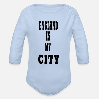 My City england is my city - Organic Long-Sleeved Baby Bodysuit
