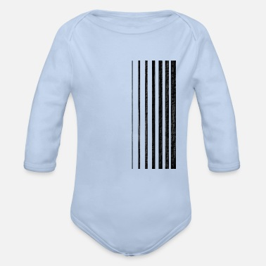 Stripes Black stripes/Gradient stripes - Organic Long-Sleeved Baby Bodysuit