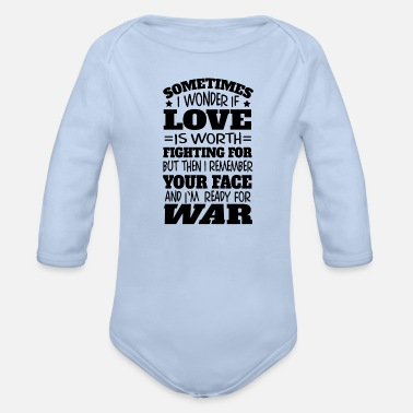 Marriage True love war marriage proposal engagement gift - Organic Long-Sleeved Baby Bodysuit