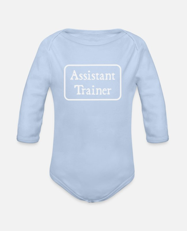 Rugby Baby One Pieces - Assistant Trainer - Organic Long-Sleeved Baby Bodysuit sky