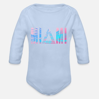 Vacation Miami 80s - Organic Long-Sleeved Baby Bodysuit
