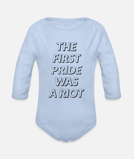 Blm Baby One Pieces - Pride Riot Riot - Organic Long-Sleeved Baby Bodysuit sky