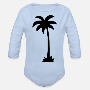 Palm Trees palm - palm tree - Organic Long-Sleeved Baby Bodysuit