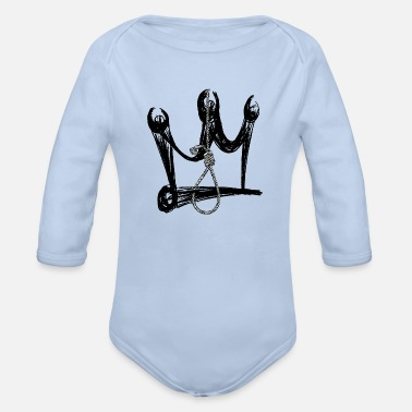 Fallen King DEATH KING - Organic Long-Sleeved Baby Bodysuit