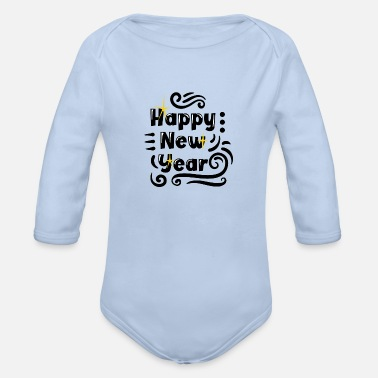 Greeting Greetings - Organic Long-Sleeved Baby Bodysuit