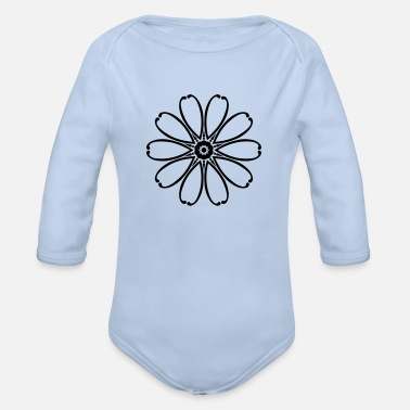 Abstract Flower Abstract Flower - Organic Long-Sleeved Baby Bodysuit
