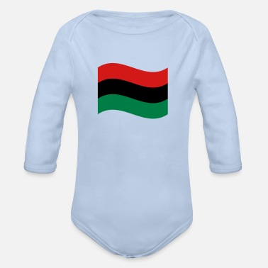 Red Black And Green Red, Black & Green Flag - Organic Long-Sleeved Baby Bodysuit