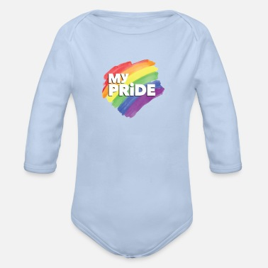 Pride Magazine Sounds Gay I m In - Organic Long-Sleeved Baby Bodysuit