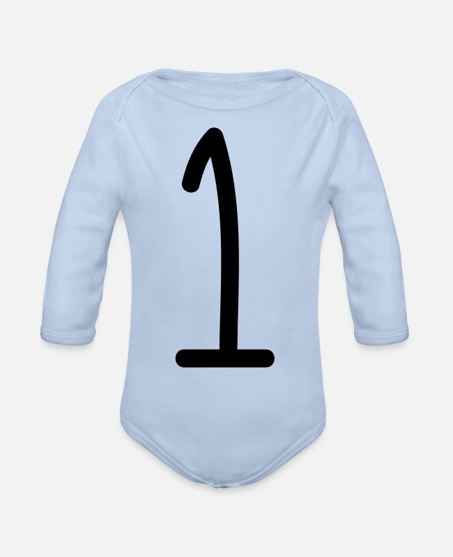 One Directions Baby One Pieces - one - Organic Long-Sleeved Baby Bodysuit sky