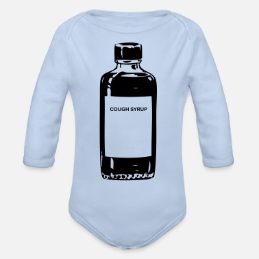 Syrup cough syrup - Organic Long-Sleeved Baby Bodysuit