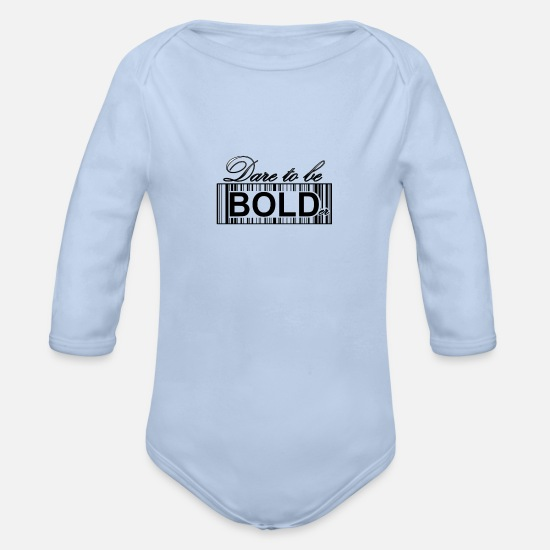 Atlantis Baby Clothing - Dare to be bold G - Organic Long-Sleeved Baby Bodysuit sky