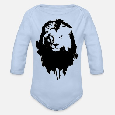 Bold Lion - Organic Long-Sleeved Baby Bodysuit