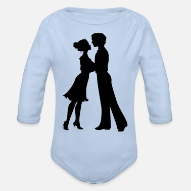 Silhouette silhouette - Organic Long-Sleeved Baby Bodysuit