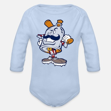 Brands Branding - Organic Long-Sleeved Baby Bodysuit