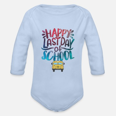 Start Of School Start of school, school start, freshmen, school - Organic Long-Sleeved Baby Bodysuit