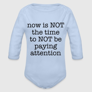 Paying Attention - Organic Long Sleeve Baby Bodysuit