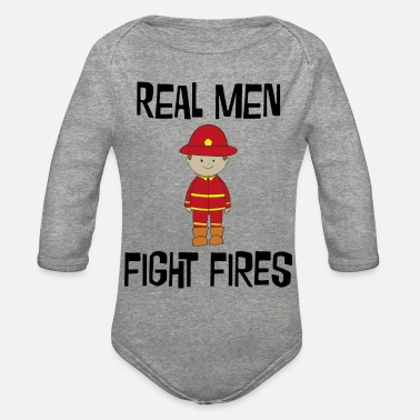 Fire Fighter Fire Fighter - Organic Long-Sleeved Baby Bodysuit