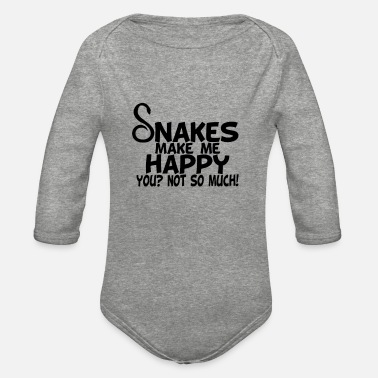 snakes make me happy you not so much - Organic Long-Sleeved Baby Bodysuit