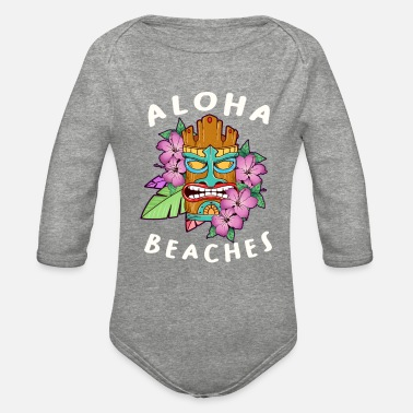 Cruise Funny Aloha Beaches Tiki Gift Design Hawaiian - Organic Long-Sleeved Baby Bodysuit