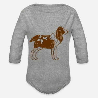 Springer Springer Spaniel - Organic Long-Sleeved Baby Bodysuit