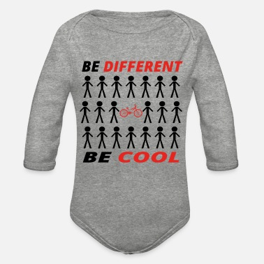 Legend BE DIFFERENT anders king cool bmx bmxer cycling cy - Organic Long-Sleeved Baby Bodysuit