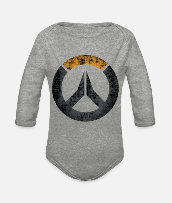 Diva Baby One Pieces - overwatch - Organic Long-Sleeved Baby Bodysuit heather gray