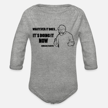 Catchphrase Whatever It Does - Organic Long-Sleeved Baby Bodysuit
