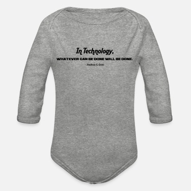 Technology IN TECHNOLOGY - Organic Long-Sleeved Baby Bodysuit