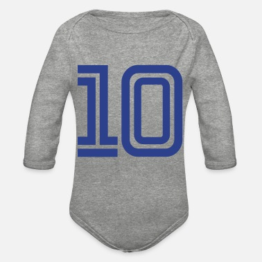 Number Number 10 - Organic Long-Sleeved Baby Bodysuit
