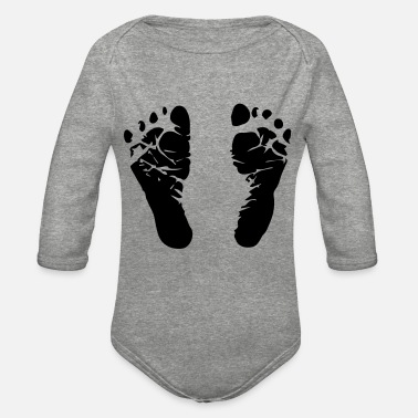Feet feet - Organic Long-Sleeved Baby Bodysuit