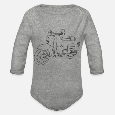 Scooter Scooter - Organic Long-Sleeved Baby Bodysuit