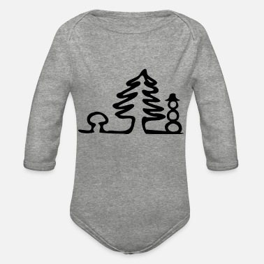 Wintertime Wintertime - Organic Long-Sleeved Baby Bodysuit