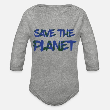 Save Save the planet - Organic Long-Sleeved Baby Bodysuit