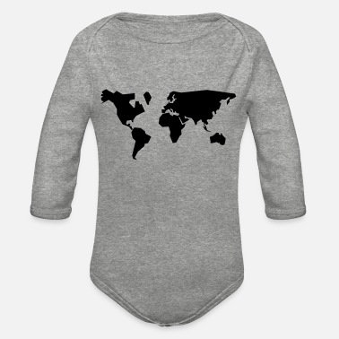 Geographic geographic - Organic Long-Sleeved Baby Bodysuit