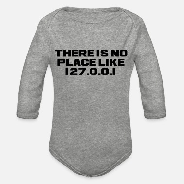 Techie NO PLACE LIKE HOME - Organic Long-Sleeved Baby Bodysuit