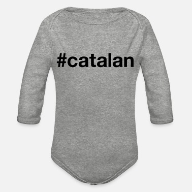 Catalan CATALAN Hashtag - Organic Long-Sleeved Baby Bodysuit