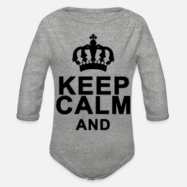 Keep Calm And (Add Your Own Text) - Organic Long-Sleeved Baby Bodysuit