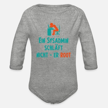 Code Sysadmin Computer Scientist Programming Gift - Organic Long-Sleeved Baby Bodysuit