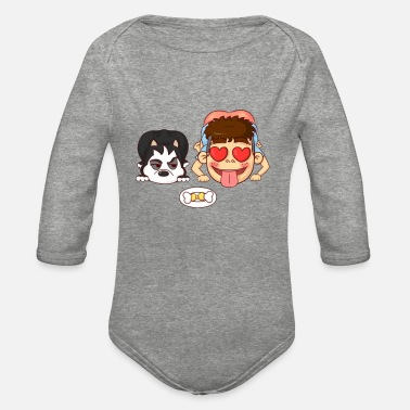 Funny Pictures funny picture - Organic Long-Sleeved Baby Bodysuit